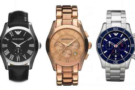 Outlet Perfumes - Emporio Armani Mens Watch in Choice of Design With Free Delivery- Save 46%