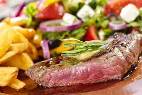 Steak Inn - Hot Stone Rib Eye Steak Meal with Chips and Salad for Two  - Save 46%