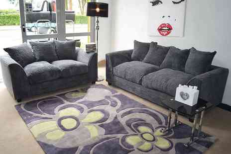 Furniture Instore - Three seater and two-seater Dylan sofa in grey - Save 55%