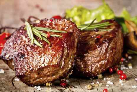 The Crown Inn - 8 Oz Sirloin Steak with Sides, Choice of Dessert and Prosecco for Two  - Save 56%