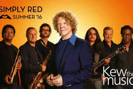 Simply Red - Simply Red in Concert at Kew the Music on  Tuesday 12th July  - Save 0%