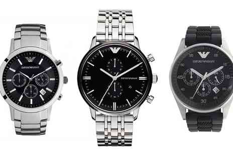 Outlet perfumes - Emporio Armani Watches in Choice of Design - Save 50%