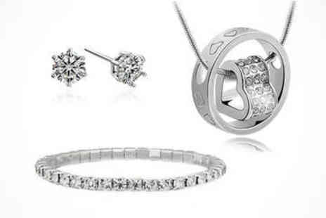 LivingSocial Shop - Crystal Jewellery Set  - Save 94%