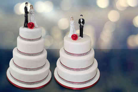 Precise Cakes - Three tier bespoke diamond wedding cake with delivery  - Save 53%