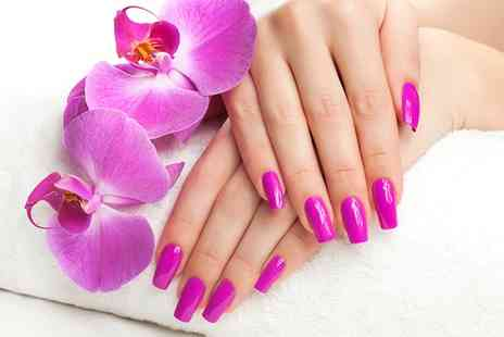 A Touch of Class - Acrylic Nail Extensions with Gel Polish - Save 65%
