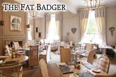 The Fat Badger - Fish and Chips With Peas, Bread and Butter Plus Tea or Coffee For Two for £12 - Save 60%