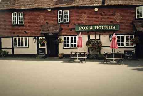 Fox and Hounds - Two Course Meal for Two - Save 57%