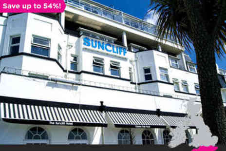 The Suncliff - Overnight in Bournemouth Getaway plus Dinner - Save 54%