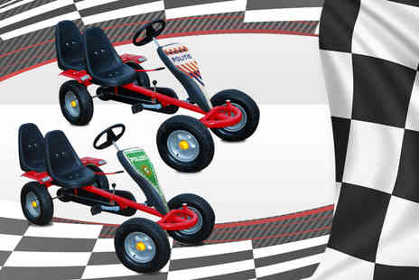 Vida XL - Red pedal go kart or upgrade to a two seater - Save 74%