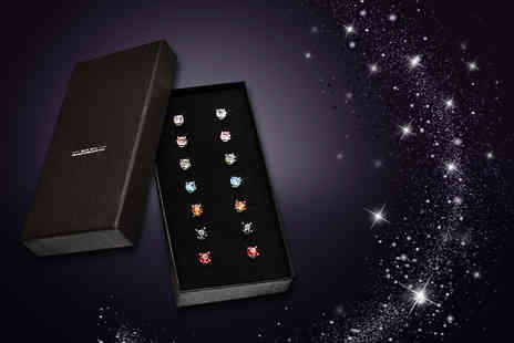 The Gemseller - Seven pairs of crystal earrings made with Swarovski Elements - Save 91%