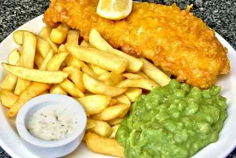 Weston Beach Cafe - Fish and Chips with a Hot Drink for Two - Save 41%