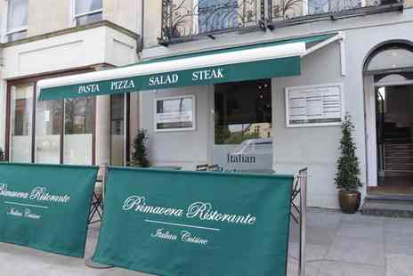 Primavera Ristorante - Two Course Italian Meal for Two - Save 50%