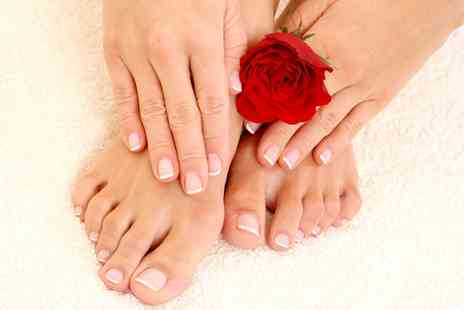 Maariyas Beauty Secret & Spa - Shellac Manicure with Optional Pedicure  - Save 52%