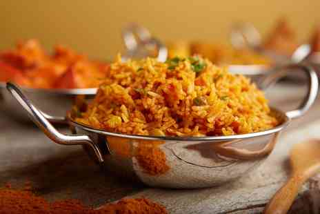 Balajee Spice - Two Course Indian Meal With Rice, Naan and Drinks For Two or Four - Save 59%