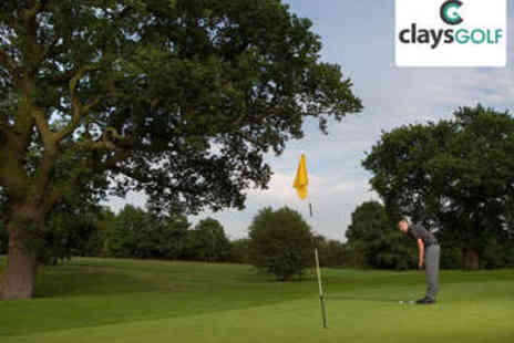 Clays Golf - Round of Golf for Two - Save 53%