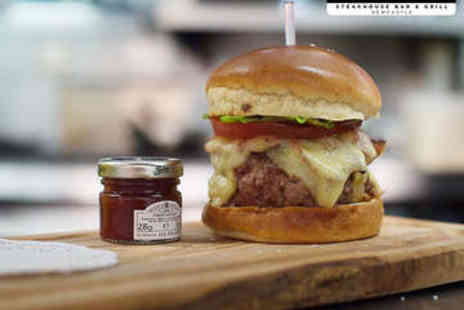 Marco Pierre White Steakhouse Bar & Grill - Gourmet Burger and Fries for Two - Save 55%