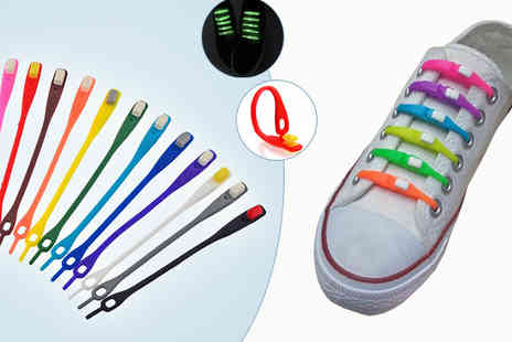 Globi Toys - Pack of 24 No Tie Shoelaces - Save 75%