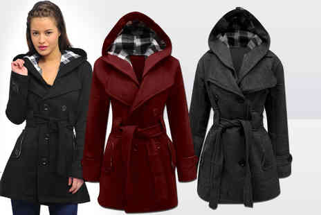 Top Notch Fashion Designer - Ladies hooded mac jacket  - Save 56%