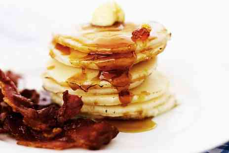 Thyme Deli - American Style Bacon and Eggs Pancakes Breakfast for Two - Save 41%