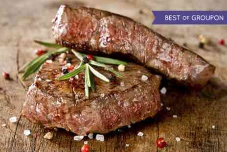 The Yacht   - 10oz Rib Eye Steak Meal With a Glass of Wine Each for Four  - Save 23%