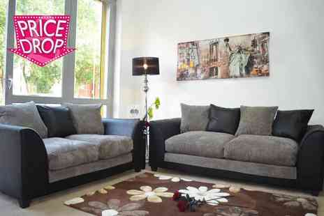 Furniture Instore - Three seater and two seater Dylan sofa  - Save 58%