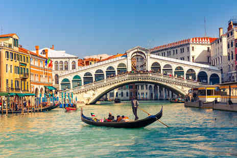Jetline Travel - Two night Venice getaway with return flights and gondola ride - Save 40%