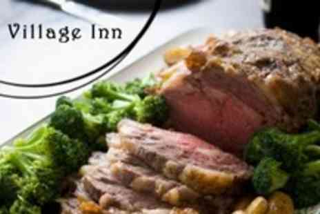 The Village Inn - Two Course Sunday Lunch For Two With Wine and Coffee - Save 58%