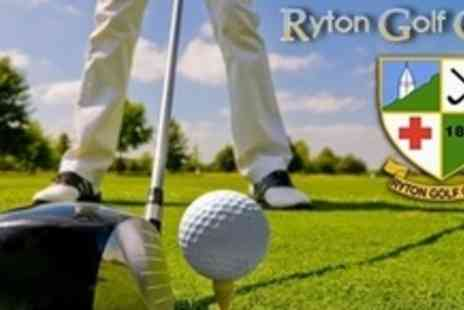Ryton Golf Club - 18 Holes of Golf For Two People - Save 66%