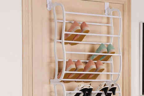 Shop Monk - Over the Door Shoe Rack 36 Pairs - Save 52%