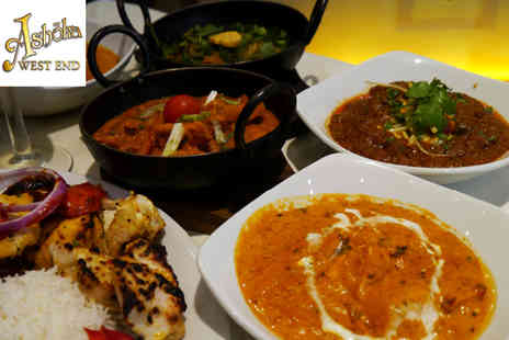 Ashoka West End - Indian meal for two with sharing platter, main courses, rice and naan bread - Save 58%