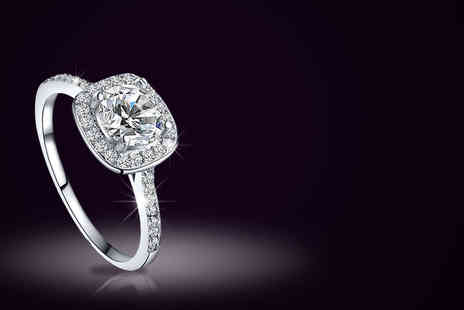 Alvis Fashion - Zircon crystal platinum plated ring - Save 93%