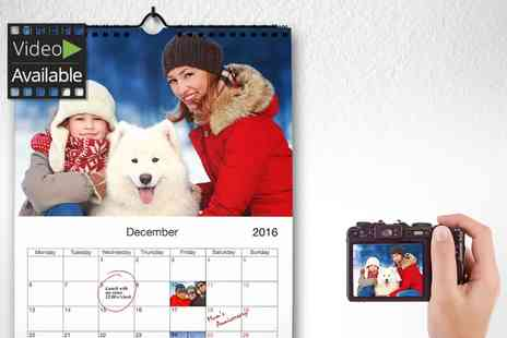 Printerpix - Personalised A4 Wall Mount Calendar - Save 72%