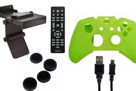 Groupon Goods Global GmbH - ORB Gaming Bundle for Xbox One With Thumb Grips, TV Clip and Wall Mount, Remote, Cable and More  - Save 63%
