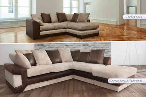 Abakus Direct - Stylish L Shaped corner sofa to include a footstool to include an arm chair - Save 57%