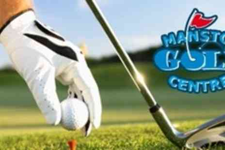 Manston Golf Centre - Day of Golf With Lunch and Drink For Four - Save 63%