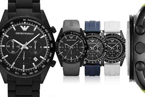 Outlet Perfumes - Emporio Armani Watch in Choice of Design  With Free Delivery  - Save 54%