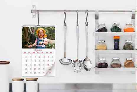 Smiley Hippo - Personalised A3 photo calendar  - Save 68%