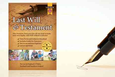 Lawpack Publishing  - Last Will and Testament Kit  With Free Delivery  - Save 57%
