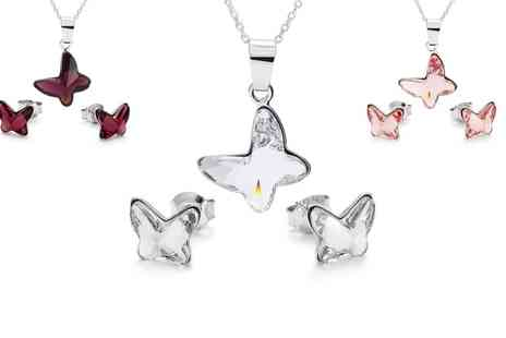Silvex Craft - Sterling Silver Butterfly Jewellery Made With SWAROVSKI ELEMENTS With Free Delivery  - Save 71%
