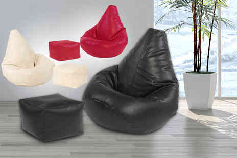 UK Beanbags - Highback Faux Leather Beanbag - Save 67%