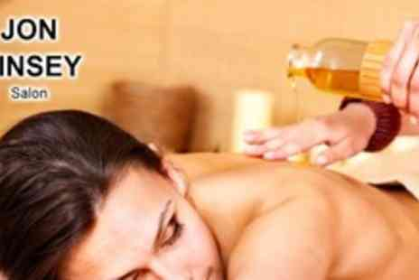 Jon Kinsey Salon - 1 hour Full body aromatherapy massage - Save 50%
