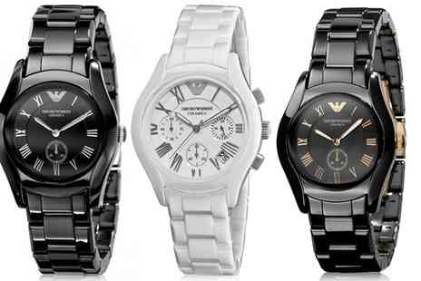 Outlet Perfumes - Emporio Armani Watch in Choice of Model  With Free Delivery - Save 58%