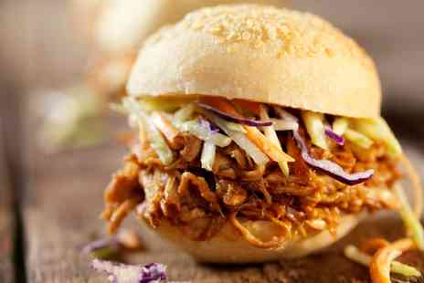 The Kentford - Pulled Pork Burger Meal with Optional Bottle of Beer for Two - Save 46%