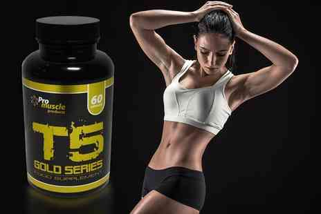 Pro Muscle Products - One Month Supply of T5 Gold Series Capsules - Save 79%