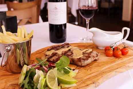 Station 22 International Armenian Steak - 8oz Sirloin or Rib Eye Steak Meal with Sides and Wine for Two  - Save 44%