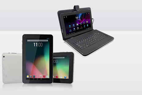 "Chimp Electronics - 9"" dual core 8GB Android tablet with keyboard case - Save 74%"