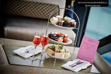 Marco Pierre White Steakhouse Bar & Grill - Champagne Afternoon Tea for Two - Save 42%