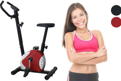 Lol Bargains - Exercise Bike in Black or Red - Save 48%