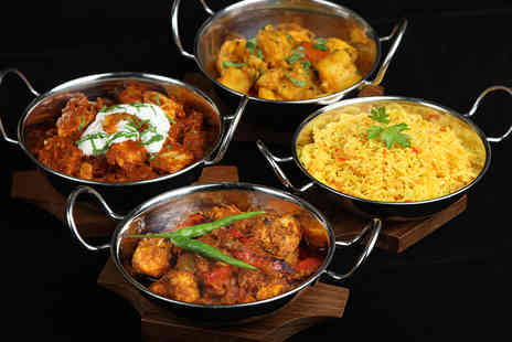 Ushas Indian Street Food - Four Indian street food dishes with a rice or chapati dish to share between two - Save 54%