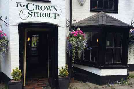 The Crown Stirrup Pub - Two Course Meal for Two   - Save 53%